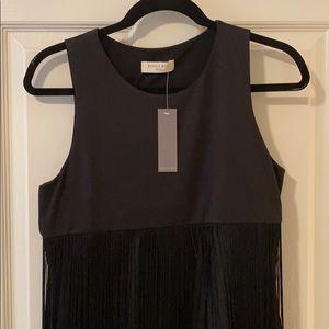 NWT Sophie Rue Black Fringe Mini Dress - XL